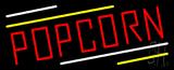 Red Popcorn Neon Sign