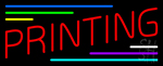 Red Printing Neon Sign