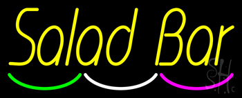 Yellow Salad Bar Neon Sign