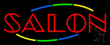 Multicolored Double Stroke Salon Neon Sign