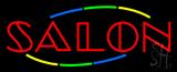 Multicolored Double Stroke Salon Neon Sign