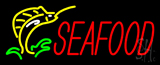 Red Seafood Neon Sign