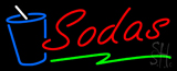 Red Sodas with Glass Neon Sign