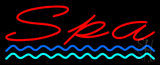 Red Spa Blue Waves Neon Sign
