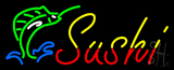 Yellow Red Sushi with Logo Neon Sign