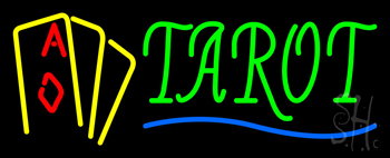 Tarot with Cards Neon Sign