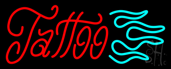Cursive Tattoo Logo Neon Sign