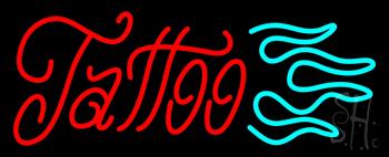 Cursive Tattoo Logo Neon Sign