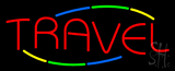 Multicolored Deco Style Travel Neon Sign