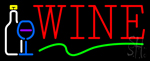 Wine With Wine Glass Neon Sign