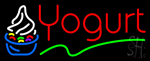 Red Yogurt Logo Neon Sign