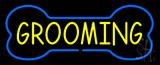 Blue Bone Yellow Grooming Neon Sign