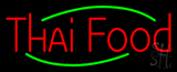 Red Thai Food Neon Sign