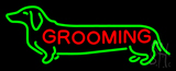 Dog Grooming Logo Neon Sign