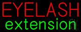 Red Eyelash Green Extension Neon Sign