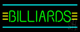 Green Billiards Turquoise Lines Neon Sign