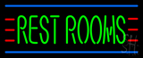 Green Restrooms LED Neon Sign