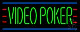 Video Poker LED Neon Sign