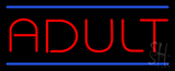 Red Adult Blue Lines LED Neon Sign