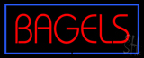 Red Bagels with Blue Border Neon Sign