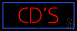 Red CD'S Blue Border Neon Sign