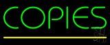 Green Copies Neon Sign