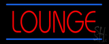 Lounge Neon Sign with Blue Lines