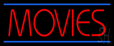 Red Movies Blue Lines LED Neon Sign