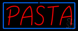 Red Pasta with Blue Border Neon Sign