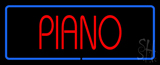 Piano Blue Border Neon Sign
