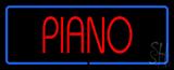 Piano Blue Border LED Neon Sign