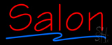 Red Salon Blue Line Neon Sign