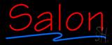 Red Salon Blue Line Neon Sign