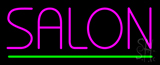Pink Salon Green Line Neon Sign