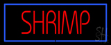 Shrimp Blue Border Neon Sign