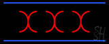 Red X X X Blue Lines LED Neon Sign