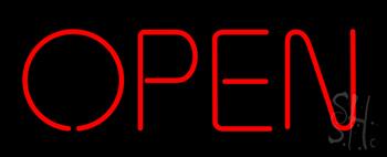 Open - No Border Neon Sign