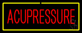 Red Acupressure with Yellow Border Neon Sign