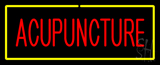 Red Acupuncture Yellow Neon Sign