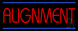 Red Alignment Blue Lines Neon Sign