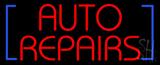 Red Auto Repairs Block Neon Sign