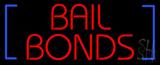 Red Bail Bonds Blue Brackets Neon Sign
