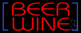 Red Beer Wine LED Neon Sign
