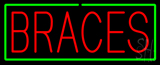 Red Braces Green Border Neon Sign
