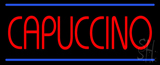 Red Cappuccino Blue Lines Neon Sign