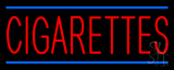 Red Cigarettes Blue Lines Neon Sign