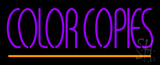 Purple Color Copies Neon Sign