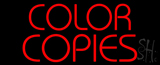 Red Color Copies Neon Sign