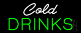 White Cold Drinks Green Neon Sign