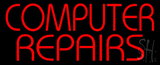Red Computer Repairs Neon Sign